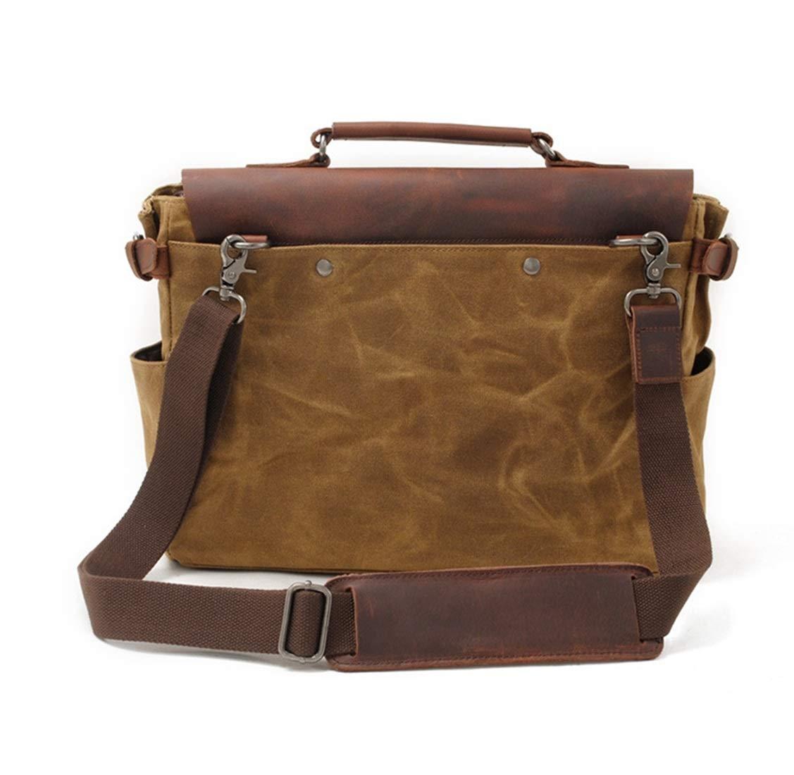 XIAMEND Retro Large Capacity Waterproof Camera Bag Canvas Shoulder Bag Messenger Bag Color : Dark Gray