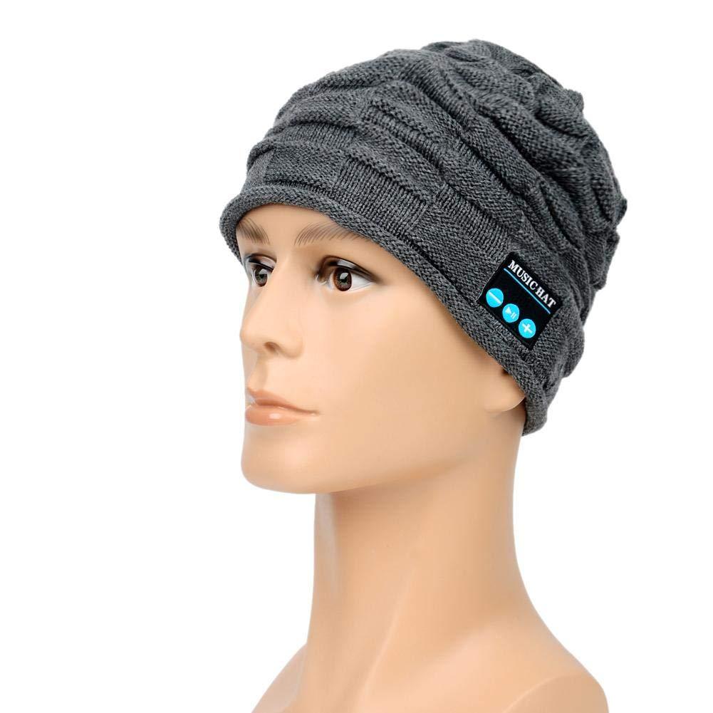 Storagc Bluetooth Hat For Snow Wear TB-14 Prendas de Punto cálidas Estiramiento Grande Apoyo Llamada + Música Diseño clásico cálido Esquí Moderno y Suave Otras Actividades al Aire Libre