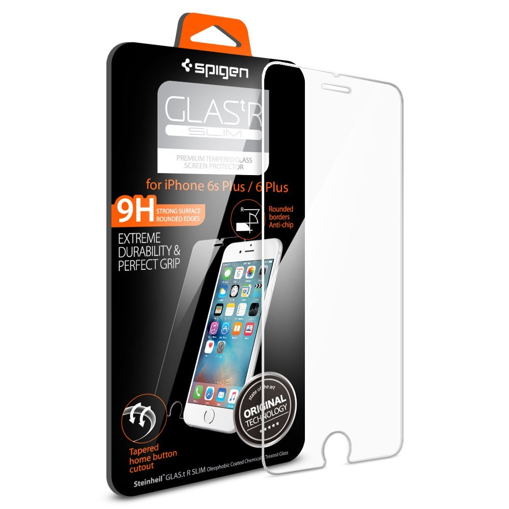 sale retailer a4877 37ac6 Spigen Glas tR Slim iPhone 6s Plus Screen Protector with Tempered ...