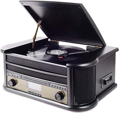 Plattenspieler Mit Eingebauten Lautsprechern Retro Elektronik