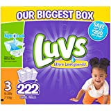 Luvs Ultra Leakguards Diapers, One Month Supply, Size 3, 222 Count