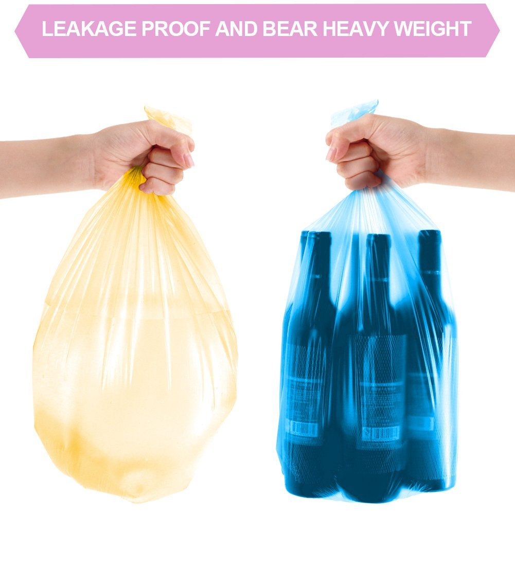 Small Trash Bags, FORID 4 Gallon Garbage Bags Thin Material Small Size 15-liters for Office, Home Waste Bin, 150 Counts 5 Color by FORID (Image #6)