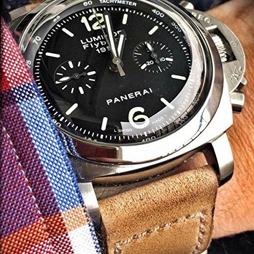 Custom 24mm Handmade Premium Calf Leather Watch Band Gunny Straps - Egypt Serie