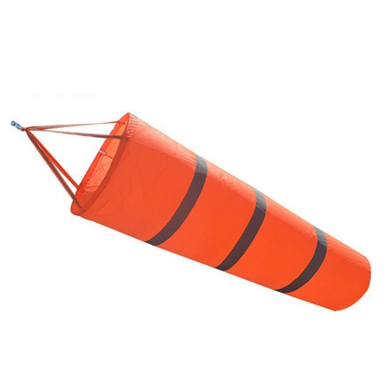 Gosear 31.5inch Airport Windsock Outdoor Weather Vane Wind Measurement Sock Bag with Reflective Belt