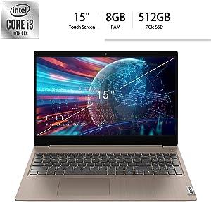 "2020 Lenovo IdeaPad 3 15"" Touchscreen HD Laptop, 10th Gen Intel Core i3-1005G1 (Beats i5-7200U), 8GB DDR4, 512GB PCIe SSD, Webcam, HDMI, Windows 10 S /Legendary Accessories"
