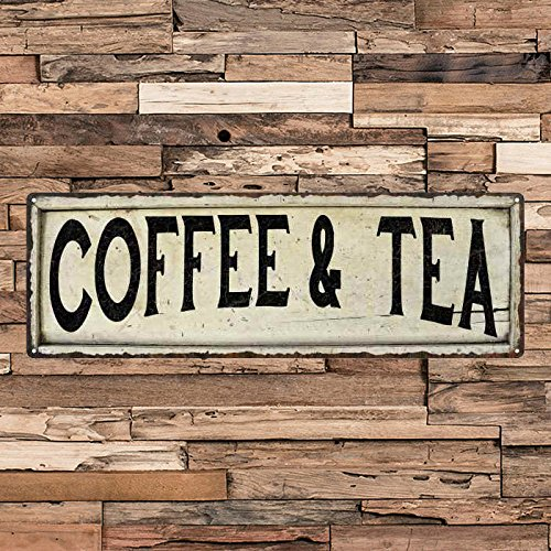 - ACOVE Coffee Tea Vintage Looking Shabby Chic Metal Sign Kitchen Home Wall Dcor