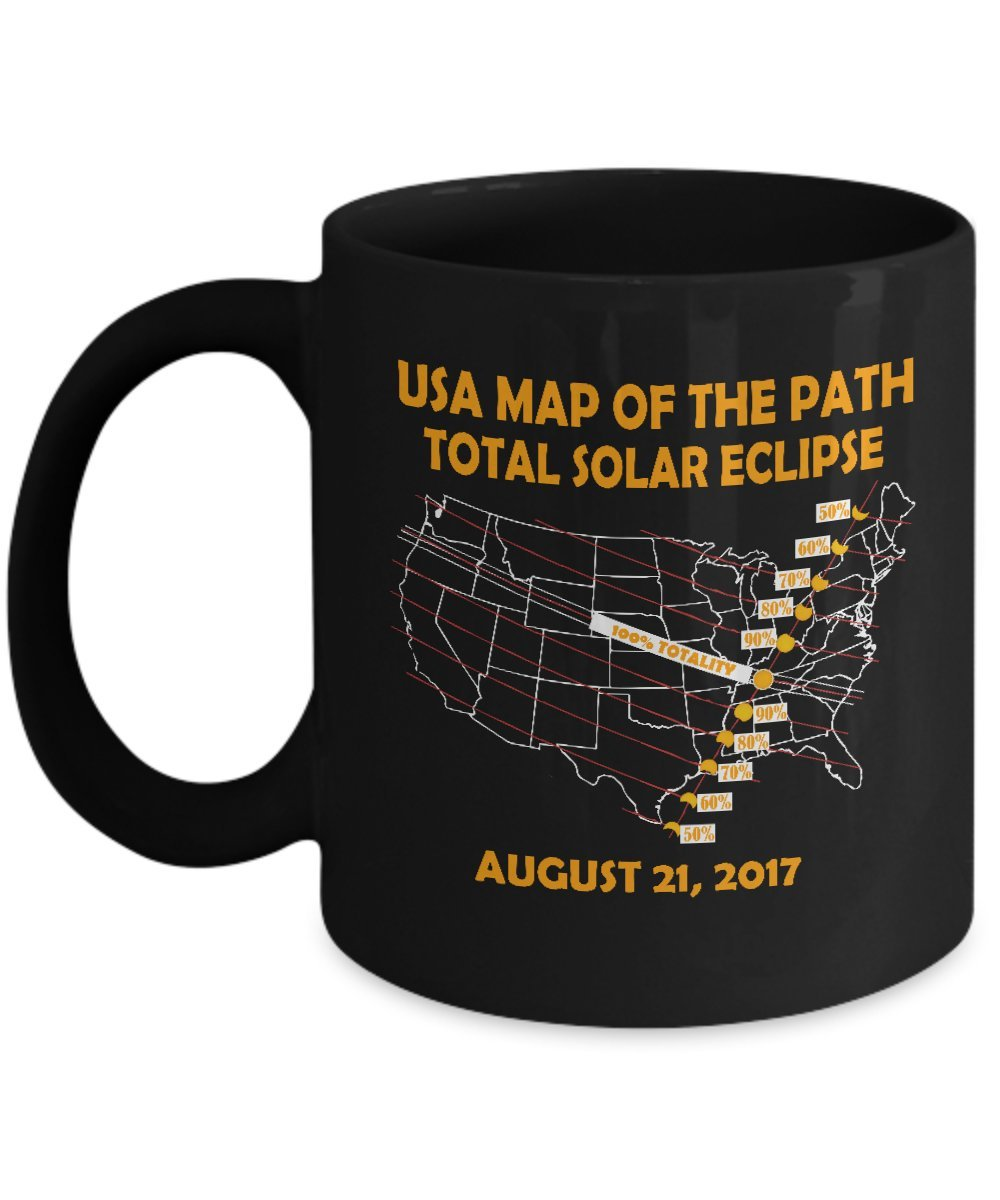All American Total Solar Eclipse August 21 2017 USA Map Gear Stainless Steel Travel Insulated Tumblers Mug for kids men women