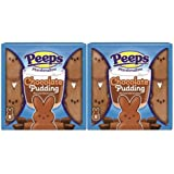 Peeps Marshmallow Chocolate Pudding– Easter Candy Brown Bunnies, Perfect For Every Easter Basket and Egg Hunt, 8 Count Pack (Pack of 2)