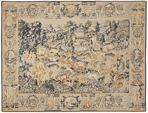 Hand Woven Aubusson Tapestry (Hand woven Aubusson tapestry. 7'5