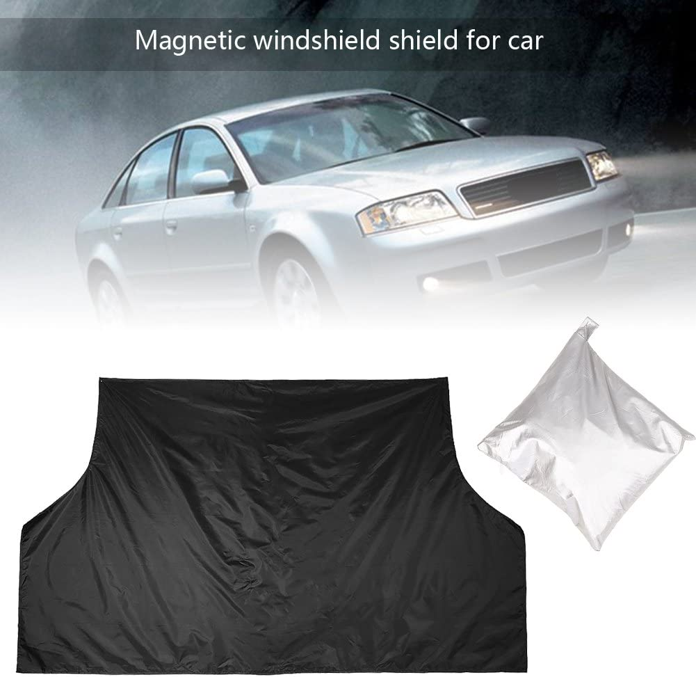 Magnetic Car Windshield Cover Sun Snow All Weather Universal Polyester Auto Car Window Cover Sunshade Snow Ice Protector Truck SUV