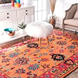 Handmade Overdyed Persian Orange Wool Area Rugs, 5 Feet by 8 Feet (5′ x 8′) Review