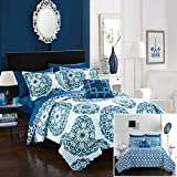 navy and green quilt - Chic Home Madrid 3 Piece Quilt Set, Twin, Blue, 3