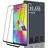 Ferilinso Cristal Templado para Samsung Galaxy M20, [2 pcs][Edición Mejorada] [Pegamento Adhesivo Completo] Cristal Templado de absorción Completa y Cobertura Total con garantía de por Vida(Negro)