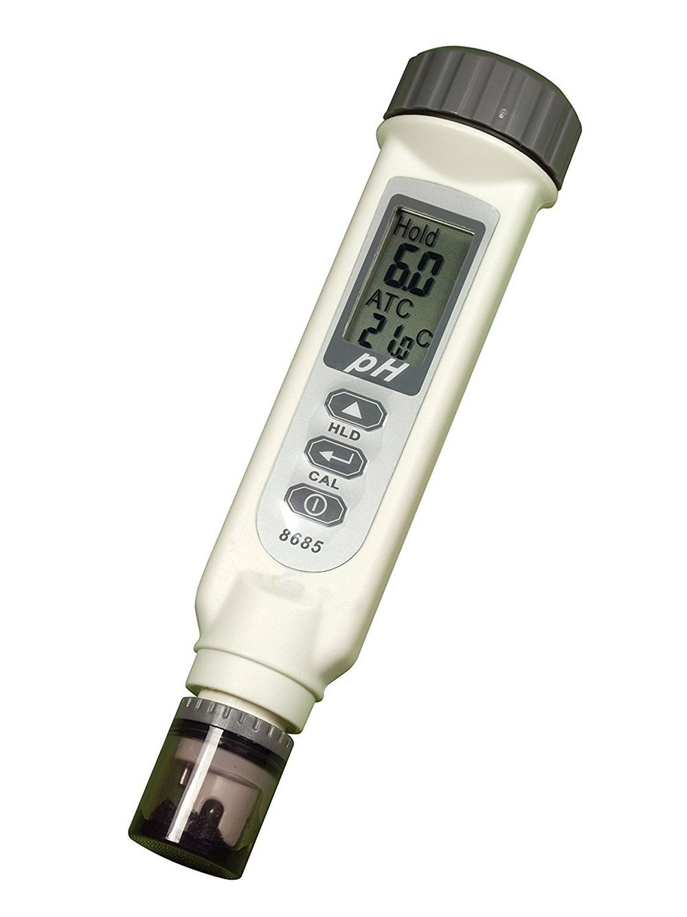 High Quality Digital Waterproof PH Temperature Meter Tester (ATC) with Large LCD Screen One Touch automatic Calibration function, 0.00-14.00 Measurement Range, Model 8685 Eleoption