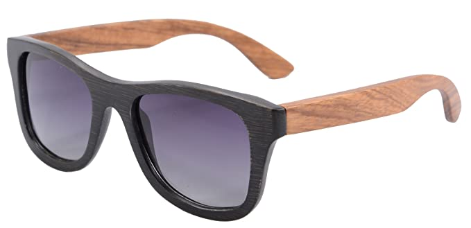 SHINU Polarizadas Gafas de Madera de Bambú Gafas de Sol Lentes de Madera Vintage y Espejos de Anteojos Gafas de Sol de los Hombres Gafas de Sol-Z6016