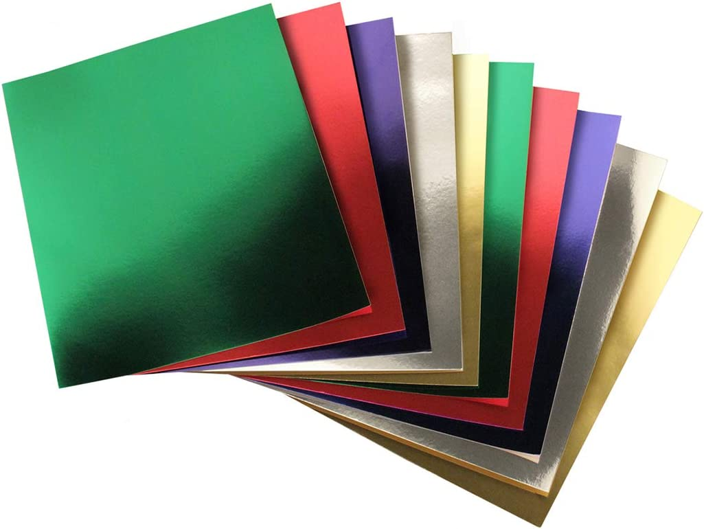 Hygloss Products 852 Metallic Foil Board-10 Sheets 8.5x11 2 Each of 5 Assorted Colors