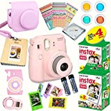 Fujifilm Instax Mini 8 (Pink) Deluxe kit bundle Includes: - Instant camera with Instax mini 8 instant films (40 pack) - A MASSIVE DELUXE BUNDLE