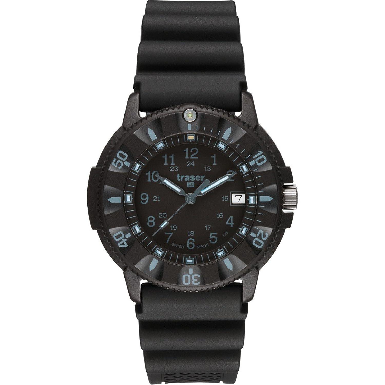traser H3 Armbanduhr P6508 Dark Code Blue mit Datum Rubberband