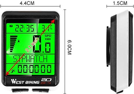 N//A Fahrrad Fahrrad Code Tabelle Computer Wasserdicht Digitale Drahtlose Tacho Code Tabelle Stoppuhr Kilometerz/ähler f/ür Fahrrad Fahrrad