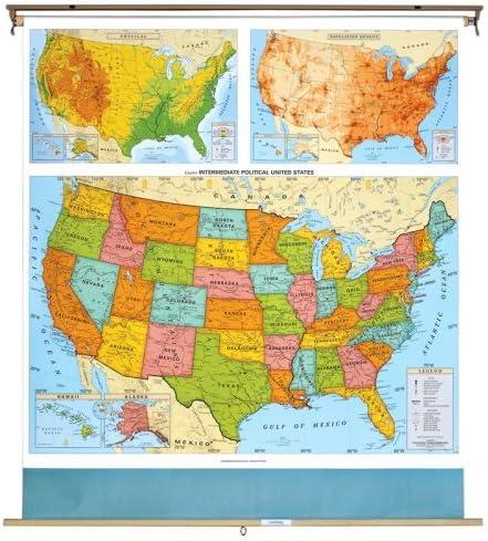 Amazon Com Avtcra79306501 United States Political Map Everything Else