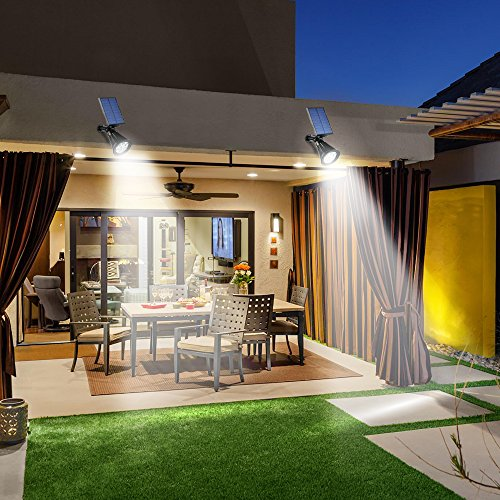 Solar Spotlights Outdoor OPERNEE Motion Sensor Solar Powered Security 6 LED