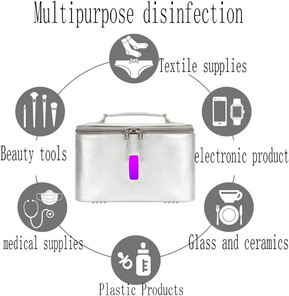 Bolsa de Almacenamiento de Desinfectante Port/átil para Tel/éfonos M/óviles//Joyer/ía//Biber/ón//Ropa Interior Bolsa de Esterilizador UV Caja Limpiadora de Desinfecci/ón con Luz Ultravioleta
