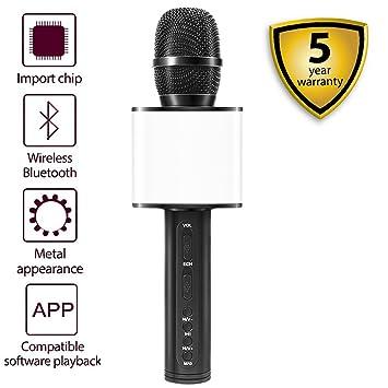 sd-08 altavoz sonidos de nture teléfono canción Karaoke Live dedicado USB inalámbrico Bluetooth micrófono tarjeta TF (sd-08 negro): Amazon.es: Instrumentos ...