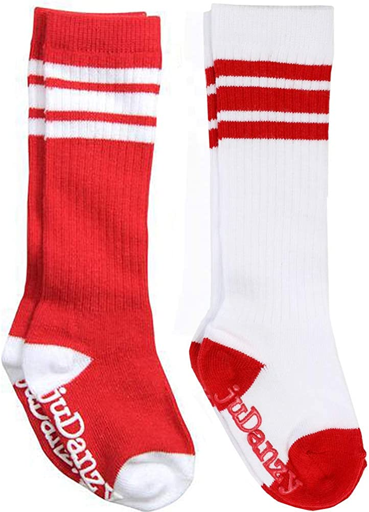 juDanzy Knee High Team Color Tube Socks for Toddler and Youth Boys and Girls (2 Pack): Clothing