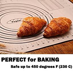 Pastry Mat XX-Large 32''x24'' – PEGZOS Non-Slip Silicone Fondant Sheet, Sticks to Countertop, Mother\'s Day Gifts, Perfect for Rolling Dough