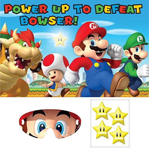 Amscan Boys Super Mario Brothers Birthday Party Game , Multi