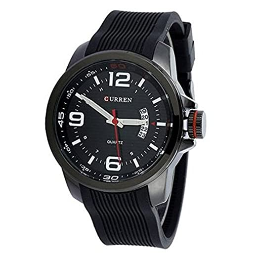 2015 Curren hombres Vogue reloj deportivo silicona reloj de lujo hombres Top marca Calendario Reloj Militar: Amazon.es: Relojes
