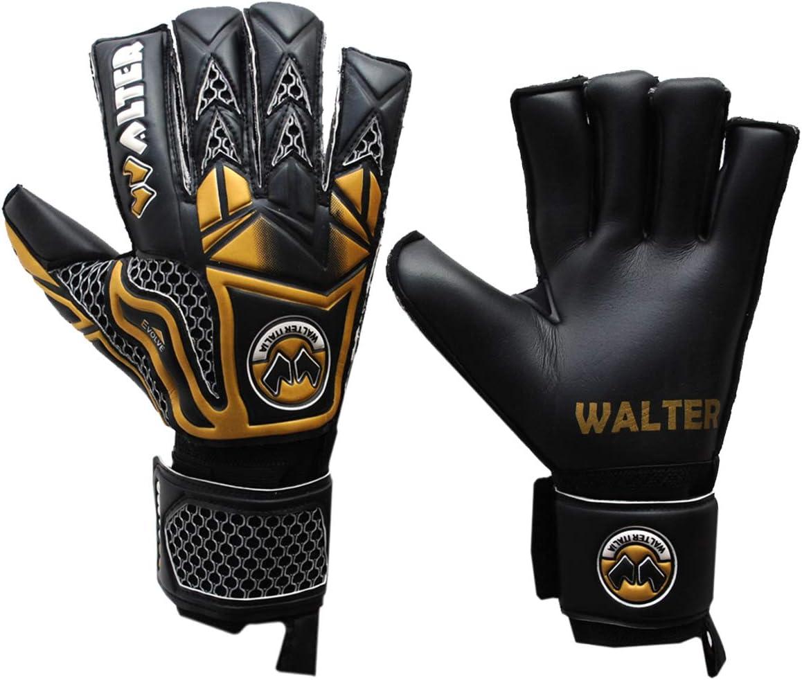 Calcio Walter Guanti Portiere Professionale Modello Tiger con Stecche.