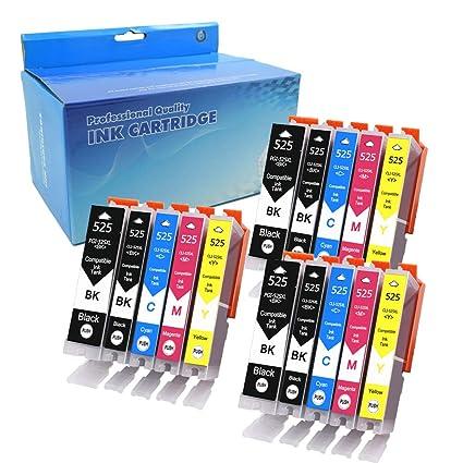 Teng® - Cartucho de Tinta Compatible con Canon PGI525 CLI526 ...
