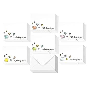 Amazon 36 assorted pack thinking of you note cards bulk box 36 assorted pack thinking of you note cards bulk box set blank on the m4hsunfo Gallery