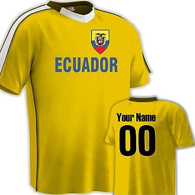 23e73e372fb17 Amazon.com: Customized Ecuador Soccer Jersey Adult Medium in Gold ...