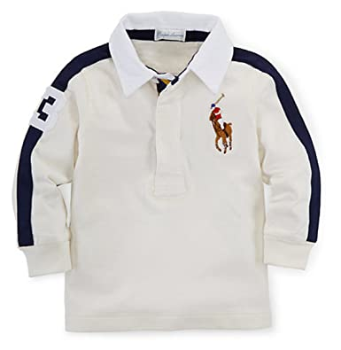 feed4fe04e0 Amazon.com: Ralph Lauren Baby Boys' Big Pony Cotton Rugby (3 MONTHS ...