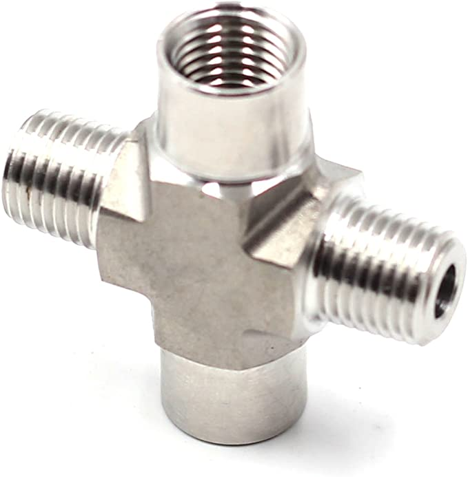 1//4 NPT to Barb 10pcs HFS R Connector Forged Stainless Steel