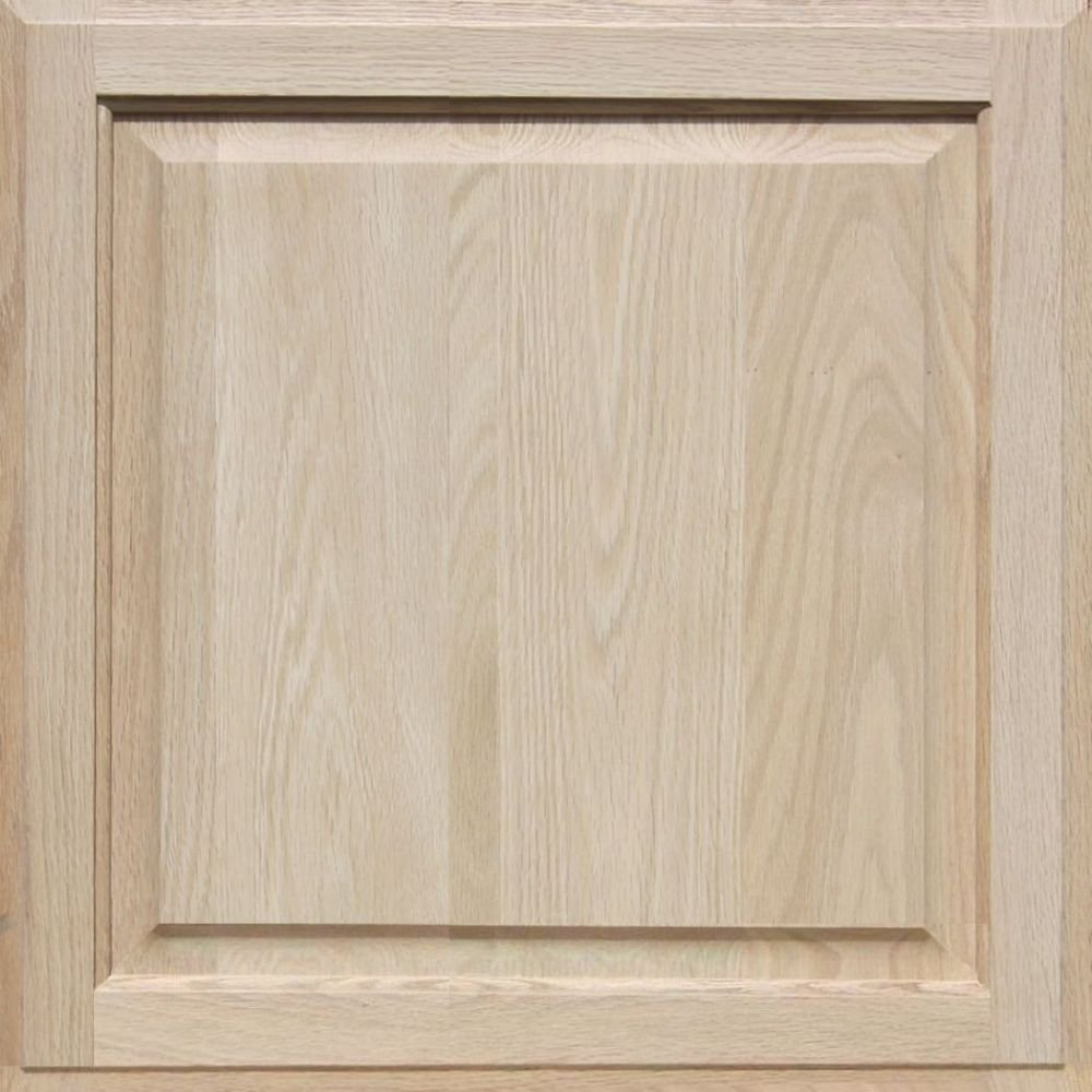 8H x 34W Unfinished Oak Flat Drawer Front with Edge Detail by Kendor