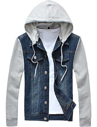 Vogstyle Men Boys Jeans Chaqueta Chaqueta con Capucha ...