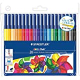 2X Staedtler Noris Club 326 WP20 Fibre Tip Pen In Wallet - 20 Assorted Colours by Staedtler