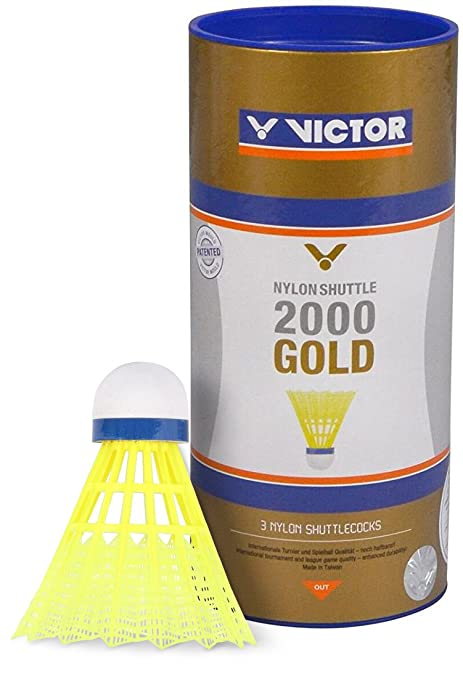 Bälle VICTOR Badmintonball Nylonshuttle 400 medium 6er Dose weiß Plastik Federball