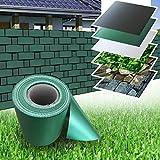 PVC Zaun Sichtschutz Sichtschutzfolie grün 35 m Rolle Doppelstabmatten Windschutz Sichtschutzstreifen