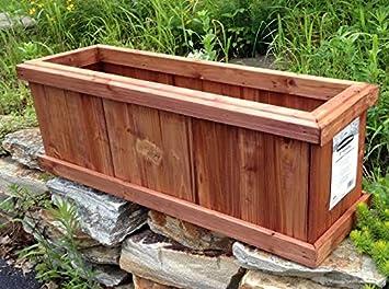 set of 2 pennington solid wood cedar outdoor planter box heartwood 28u0026quot l