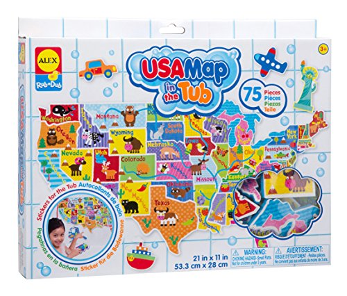 ALEX Toys Rub a Dub USA Map in the Tub (Map Foam Usa)