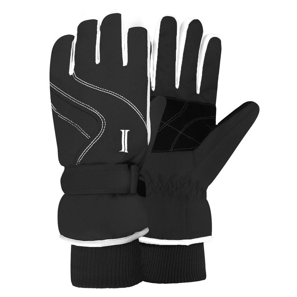 Igloos Womens Taslon Ski Gloves with Stripes