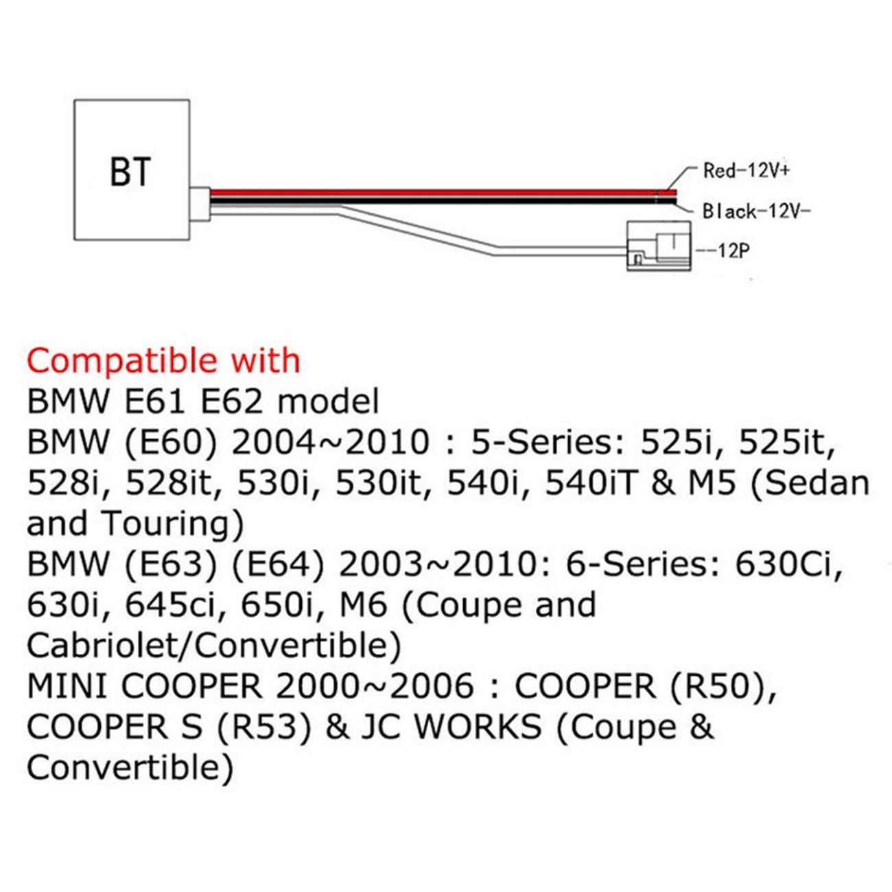 ALAVENTE Bluetooth Adapter Receiver Bluetooth Radio Stereo for AUX in for BMW E60 E61 E62 E63 E83 Mini Car Bluetooth Wireless Module