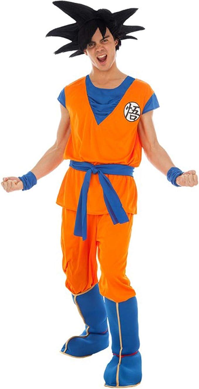 Disfraz de Bola de dragón Son Goku Saiyajin 5 Piezas Naranja Azul ...