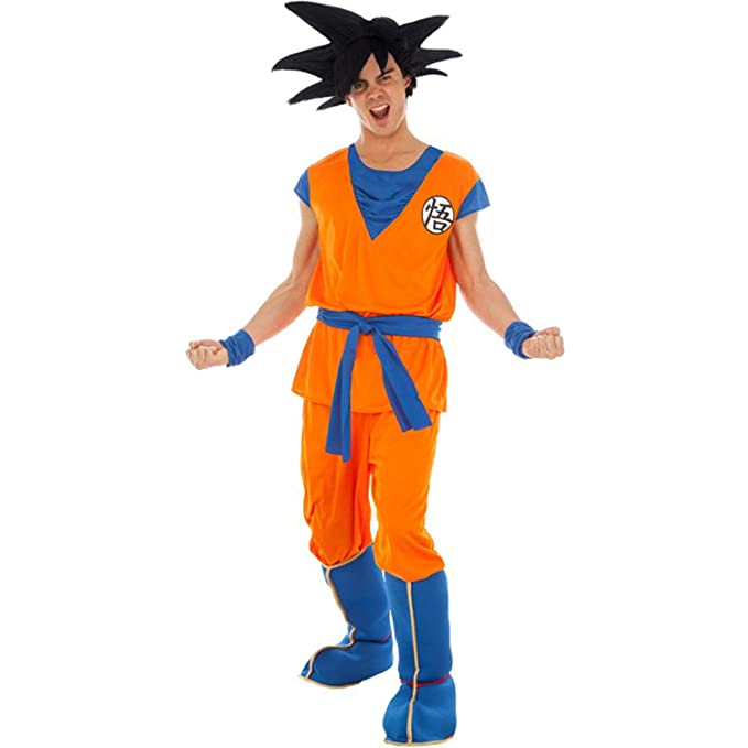 Disfraz de Hombre Dragon Ball Z Goku Anime Movie Figura Carnaval Personaje de Dibujos Animados (XL): Amazon.es: Productos para mascotas