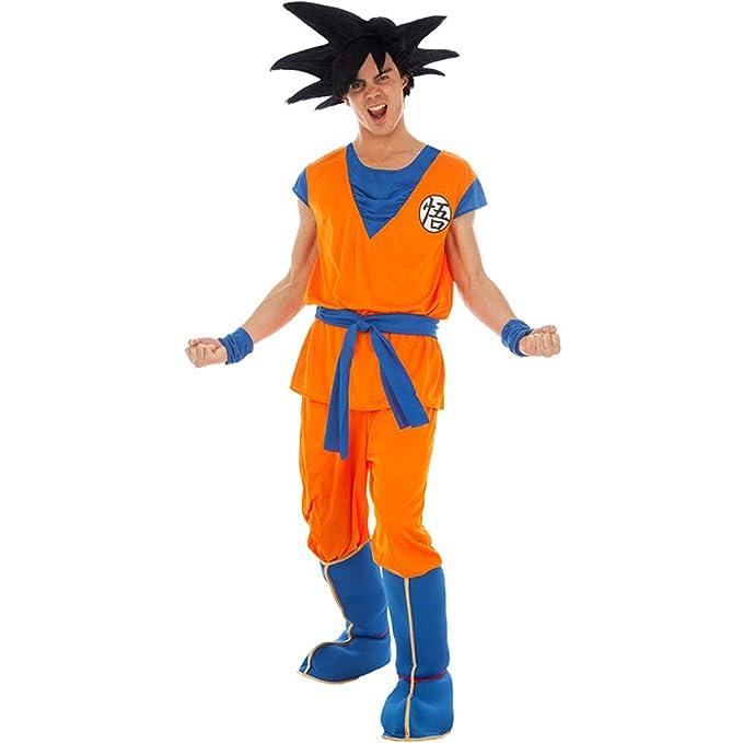 Disfraz de Bola de dragón Son Goku Saiyajin 5 Piezas Naranja ...
