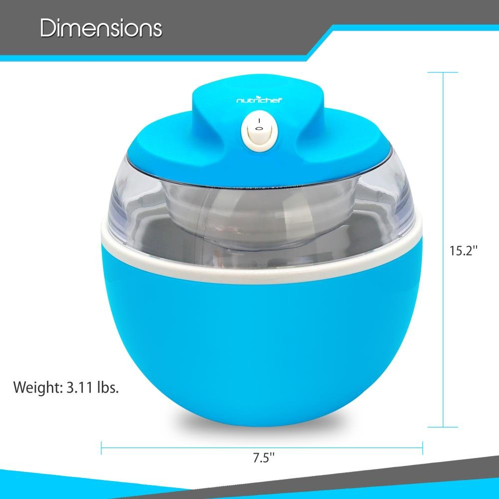 NutriChef Latest Electric Ice Cream Maker Machine - Heavy Duty Mixing Blade w/ Removable Freeze Safe Bowl for Automatic Healthy Homemade Gelato Frozen Yogurt Sorbet for All Ages PKICCM20 by NutriChef (Image #3)